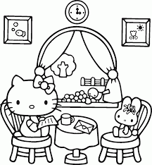 Unique Hello Kitty Pictures To Print And Colour Free Coloring Page