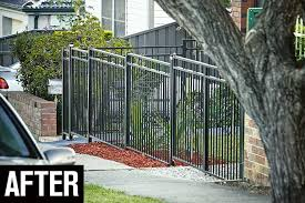 how to install an aluminium fence after