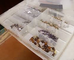 While I'm building inventory, each compartment (in both types of storage  scenarios) may contain up to three necklaces. As my busy season starts  (with the ...
