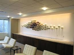 glass wall art glass wall sculpture installation by right view blown glass flowers wall art