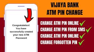 Vijaya Bank Atm Debit Card Pin Change On Atm How To Change Vijaya Bank Atm Pin Forgot Reset