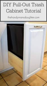 convert any kitchen cabinet into a pull out trash can cabinet pull out trash