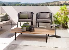 tribu branch rectangular garden coffee table