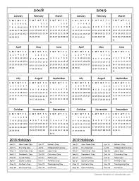 two year calender two year calendar template 2018 and 2019 free printable templates