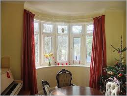 curtains imposing square bay window curtain pole for eyelet