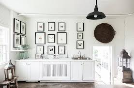 black picture frames wall. Matching Black Frames Contrast Beautifully With This Room\u0027s Stark White Walls And Cabinetry. Photo ByLesley Picture Wall