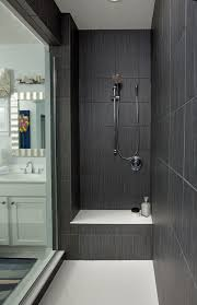 dark gray large shower tiles walk in shower ideas glass door