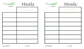 Menu Planning Template Printable Free Menu Planner Template Best Free Meal Planning Template