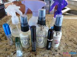 my collection of bought and homemade poo pourri toilet sprays