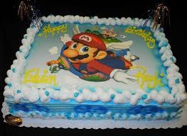 Peach made a giant cake but needs to light the candles. Birthday Cake With Mario Edible Picture Wc0015 Circo S Pastry Shop