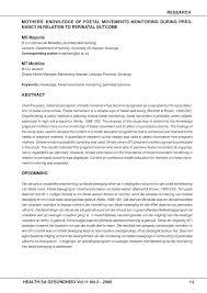 Fetal Kick Chart Pdf Pdf Mothers Knowledge Of Foetal Movements Monitoring
