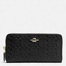wallet in signature debossed patent leather f54805 low of stock coach coach f54805 21196820 5 0 jpg