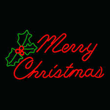 Merry Christmas Light Up Sign For Roof Merry Christmas Led Neon Hanging Display