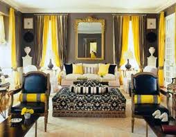 Rich blue and yellow color shades for living room decorating
