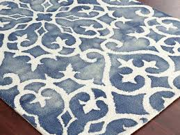 blue and white area rug s s blue and white wool area rugs