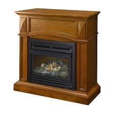 pleasant hearth 35 75 in dual burner vent free heritage corner or flat wall