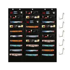 Hanging Pocket Chart Hangnuo 30 Pockets Wall Hanging File Folder Holder Pocket Chart For Office Bill Filing Classroom Worksheets Home Papers Organization 5 Over Door