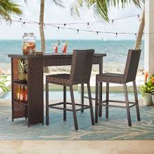 Alluring High Top Patio Table And Chairs And Tall Patio Dining Set Outdoor Pub Style Patio Furniture