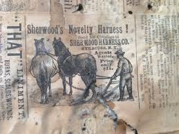 an interesting discovery in barton this week as newspapers from 1886 were found lining the walls of a home being remodeled