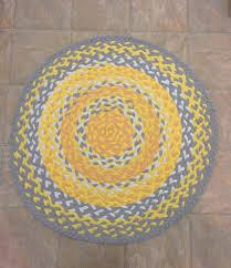 yellow grey white braided rug up cycled t shirt rug by white round braided rug