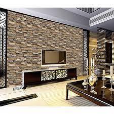 3D Stone Brick Wallpaper PVC Wall ...