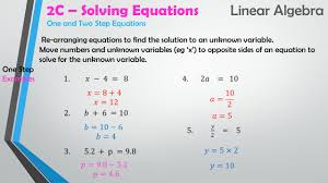 7 one and two step equations