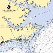 North Carolina New Bern I Nautical Chart Decor New