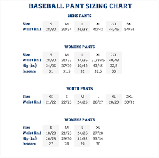 Youth Medium Baseball Pants Size Chart 16 Clean Youth Large Baseball Pants Size Chart
