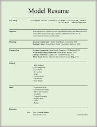 Modeling Resume Modeling ResumeModel Resume 24 24×24024png Sample Bios 7