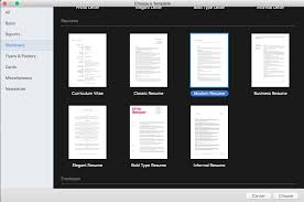 How To Create A Resume In Apple Pages Mac