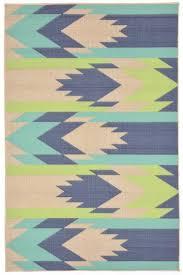 Southwest Pattern Cool Blue Southwest Pattern Rug