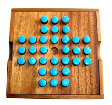 Wooden Peg Solitaire Game solitaire games 100 42