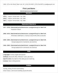 Format For Simple Resume Best Sample Resume Format Blank For Com