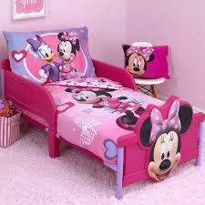 minnie mouse bed set hearts and bows 4 piece toddler bedding mickey twin