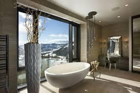 luxury modern master bathrooms. Modern Bathroom Design With White Bathtub And Elegant Dressing Table Luxury Master Bathrooms R