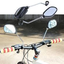 <b>A Pair Rear</b> View Mirror for Bike Bicycle Glass Left/Right Safety ...
