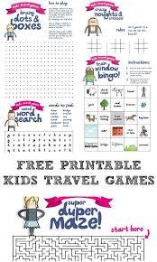 Printable Kids Printable Travel Games For Kids Lesson Plans Printables