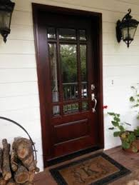 mahogany front door. Craftsman 9 Lite Stained Mahogany Wood Prehung Front Door D