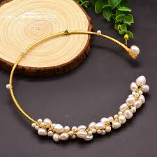 2019 <b>XlentAg Natural</b> Fresh Water <b>Baroque Pearl</b> Choker Necklace ...