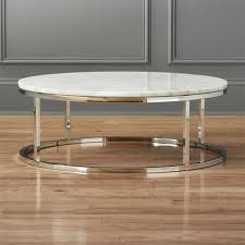 modern low round coffee table
