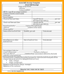 7 Sample Hotel Bill Format Travel Cash Memo Invoice Credit