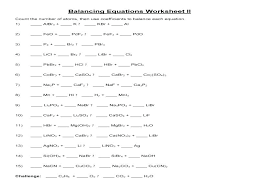 balancing equations worksheet answers practice chemical 2