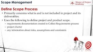 Define Scope Process How To Finalize The Project Scope