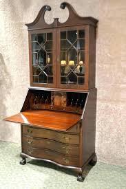 desk angelica small antique secretary desk for and bookcase with hutch vintage jasper solid