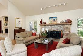 Living Room Lighting Design Interior Track Lighting Living Room With Wooden Display Cabinet