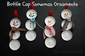 Decorated Bottle Caps Bottle Cap Snowman Ornaments DIY Masters Blog Inspiring Ideas 26