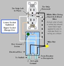 installing replacing an electrical receptacle part 3 duplex wall receptacle where the upper socket is always live and the lower socket is switched