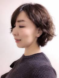 パーマスタイルアラフィフヘアスタイル 大阪 顔タイプ診断骨格診断で