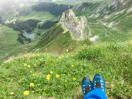 Relaxing on the Swiss Mountains hiking camping outdoors nature