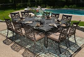 amazing patio dining table set with square table